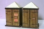 Arch Laser 00904 S.R. Woody Bay Concrete Lamp Huts Kits (2)